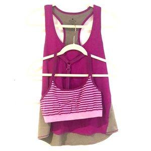 Athleta workout tank and sports bra